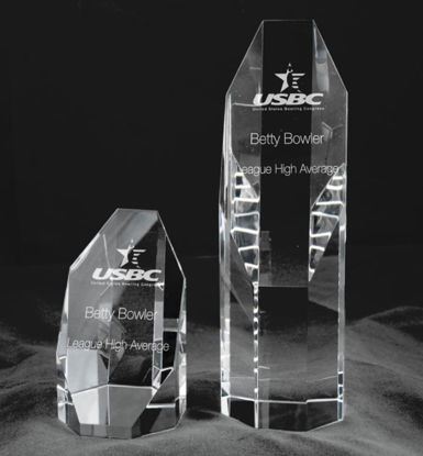 Picture of Slant Front Optic Crystal Award (4 Inches)