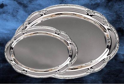 "Picture of Engravable Silver Tray(12.5""W x 8.5""H)"