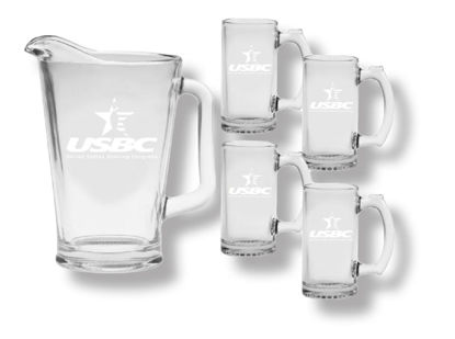 Picture of Glass Pitcher and Mug Set (Etched)